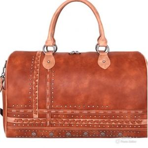 Montana West Studded Collection Duffle Bag